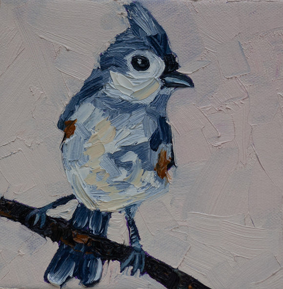 Tufted Titmouse Painting