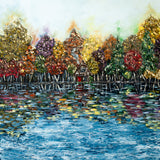 "Original Autumn Lake Landscape Painting titled ""Somewhere I'd Like To Go"""