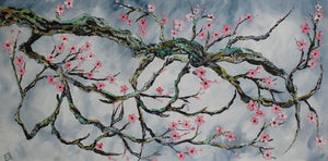 "Original oil painting titled ""Spring Solstice"" 24 x 48"""