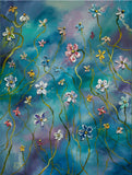 Original Wildflower Floral Colorful Impasto Painting
