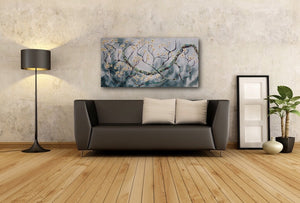 "Original oil painting titled ""Fearlessness"" 24"" x 48"""