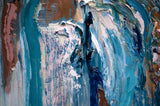 "Abstract contemporary modern Nautical Painting ""Ocean Dreams"""