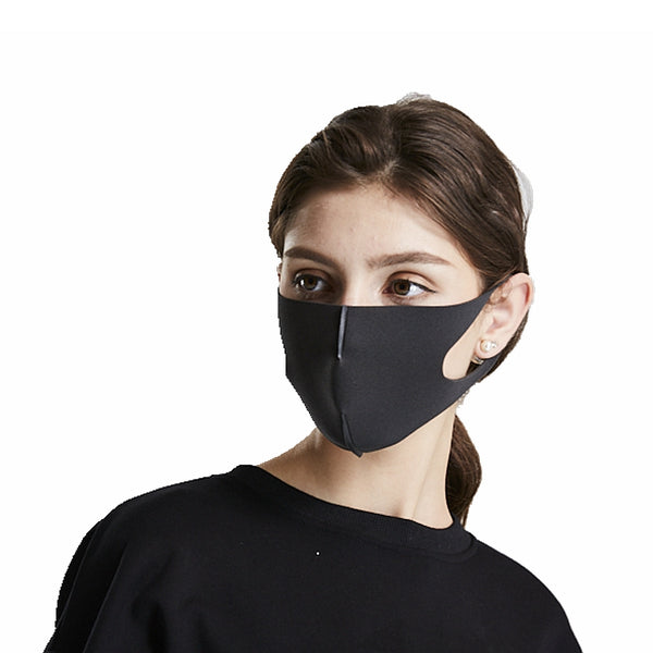 Custom Washable Reusable Black Sponge Anti Pollution Face Dust Mask