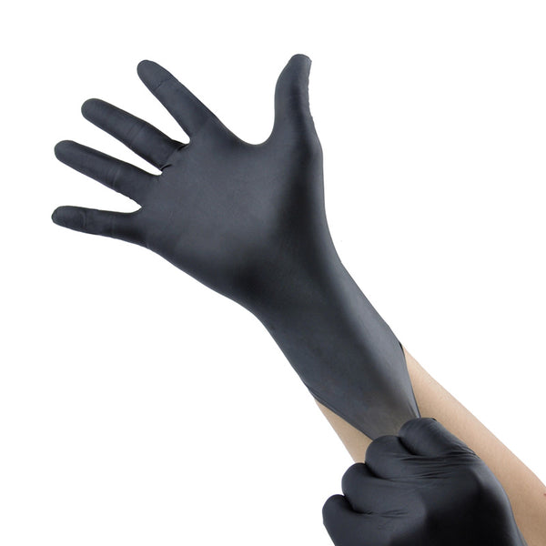 Disposable-Black-Nitrile-Gloves