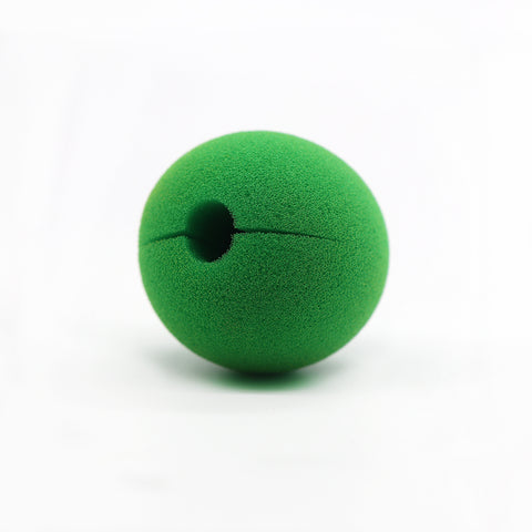 Green Color Soft Sponge Clown Noses Ball