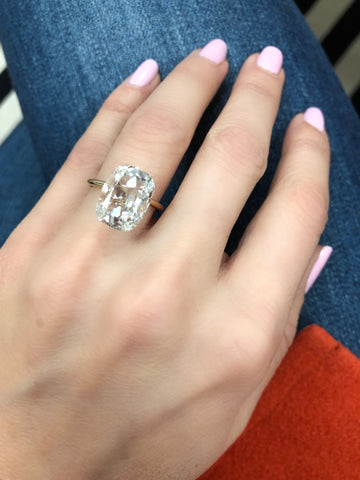 MDR Atelier Cushion Cut Engagement Diamond Ring
