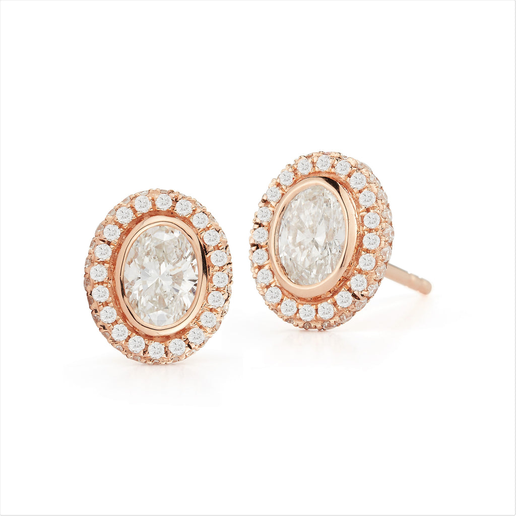 Afternoonified oval diamond stud earrings