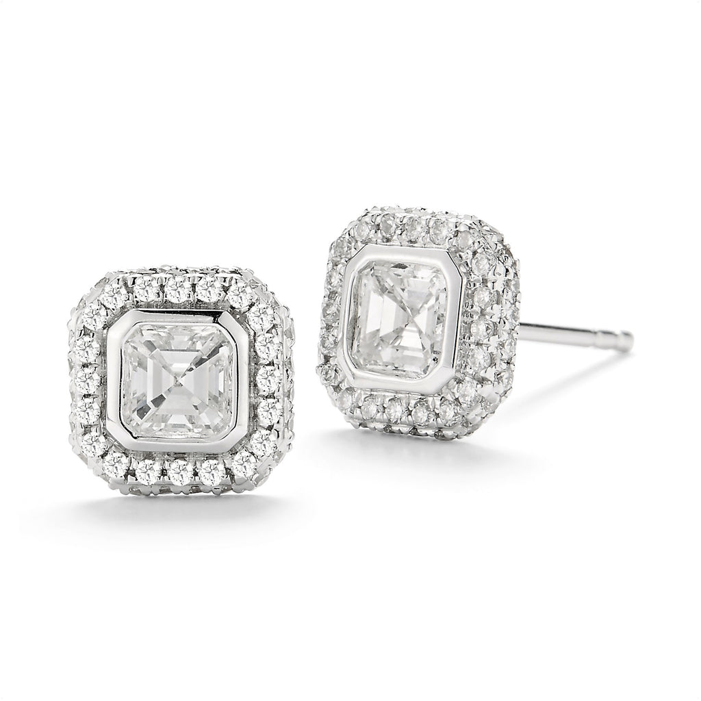 'Afternoonified' Cushion Cut Diamond Studs
