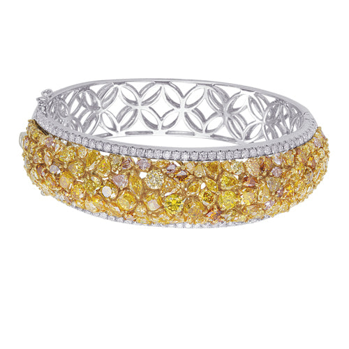Miss Diamond Ring fancy yellow bangle bracelet