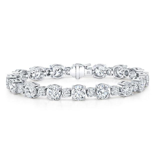 20 ct Diamond Tennis Bracelet, White Gold