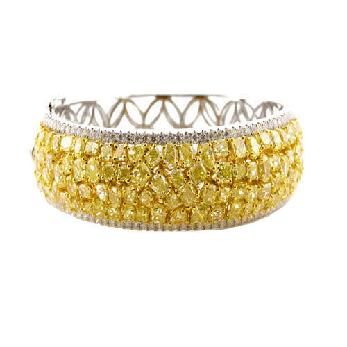 22 ct Yellow Diamond Bangle