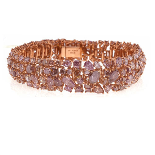28 ct Pink Diamond Bracelet
