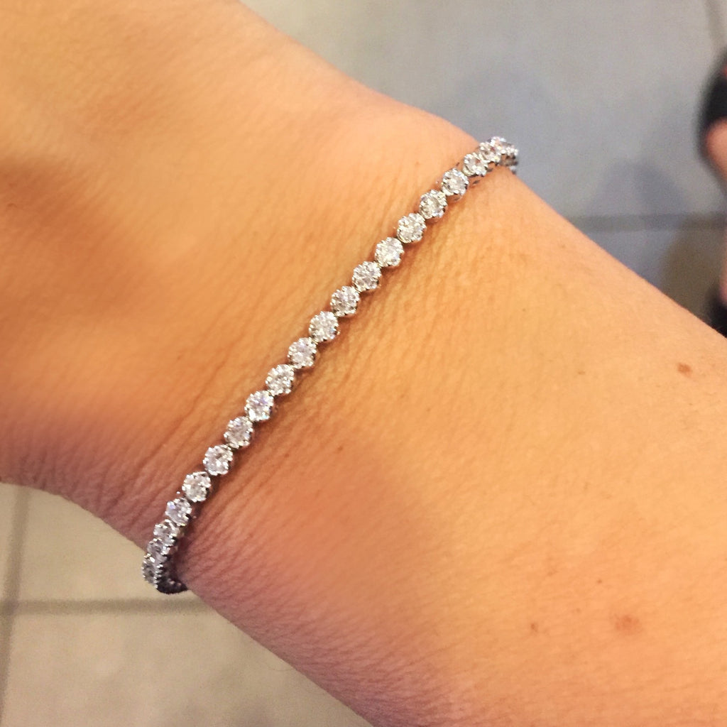 Miss Diamond Ring single row diamond tennis bracelet