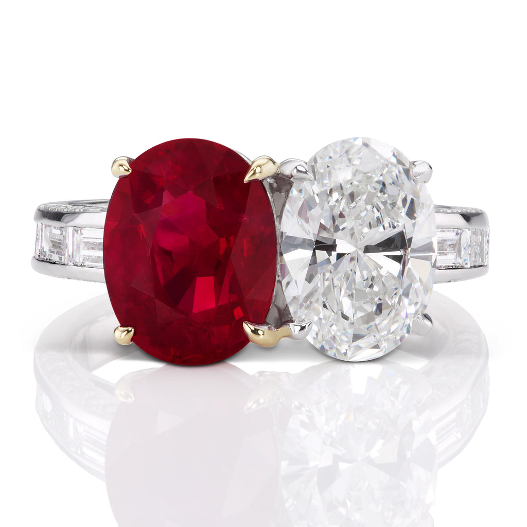 5.59 ct Pigeons Blood Burma Ruby Ring