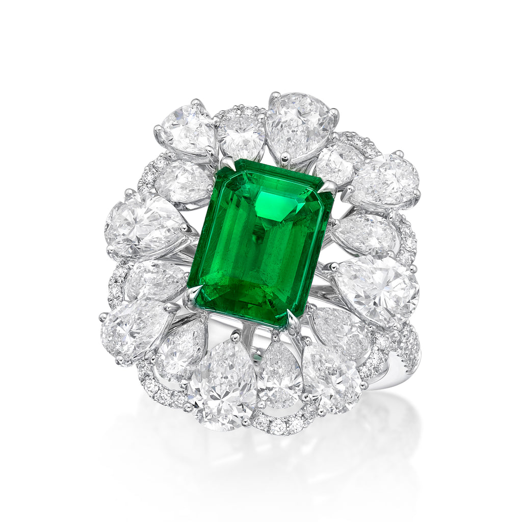 2.48 ct Exceptional Columbian Emerald Ring