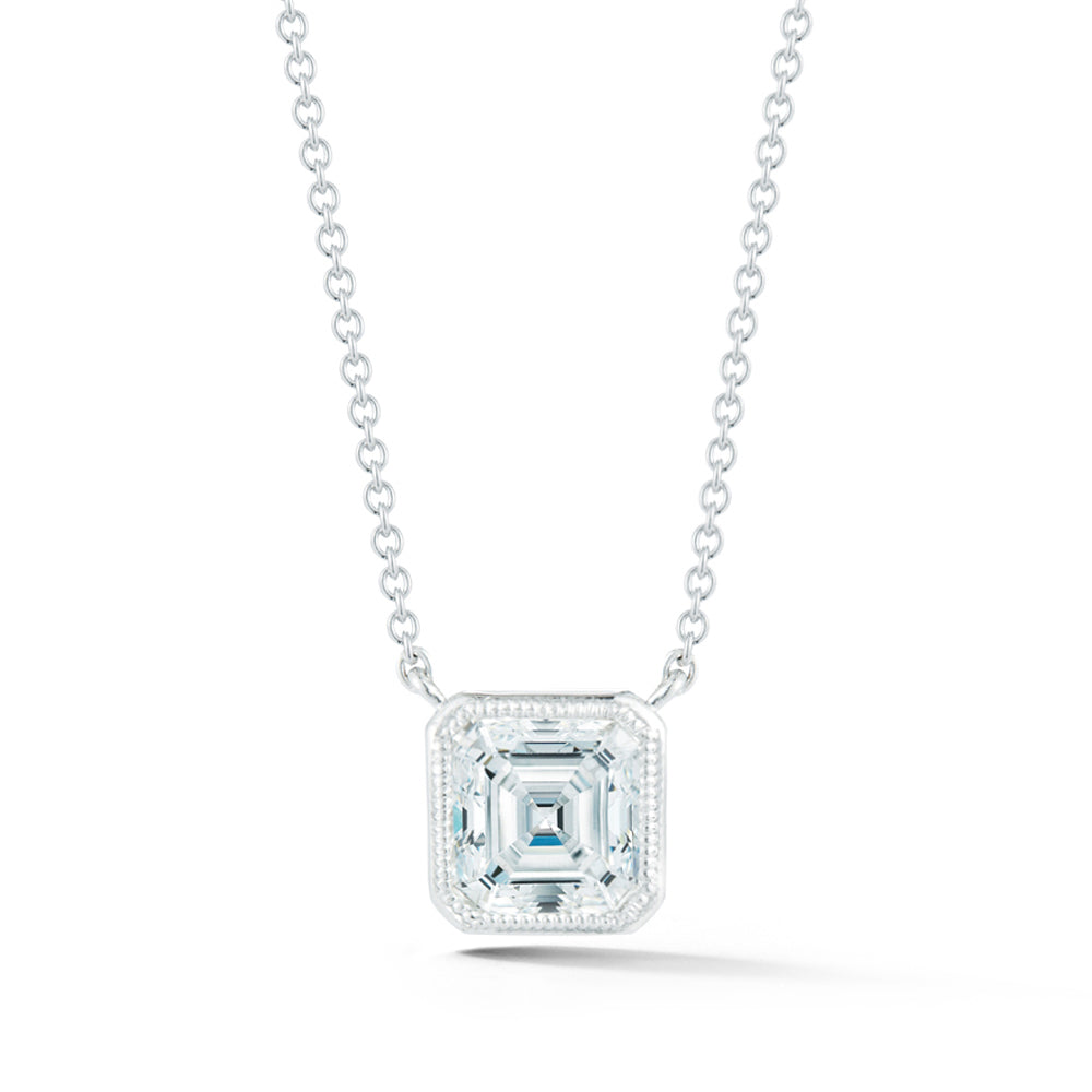 Miss Diamond Ring Asscher pendant necklace