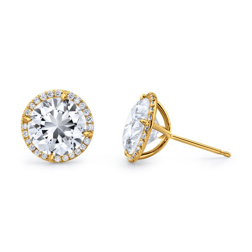 Halo Diamond Martini Stud Earrings