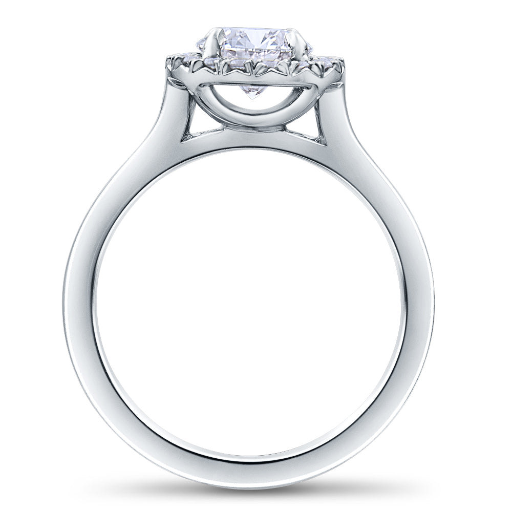 Halo Round Brilliant Cut Diamond Engagement Ring