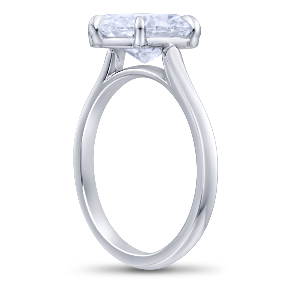 Oval Cut Brilliant Diamond Engagement Ring
