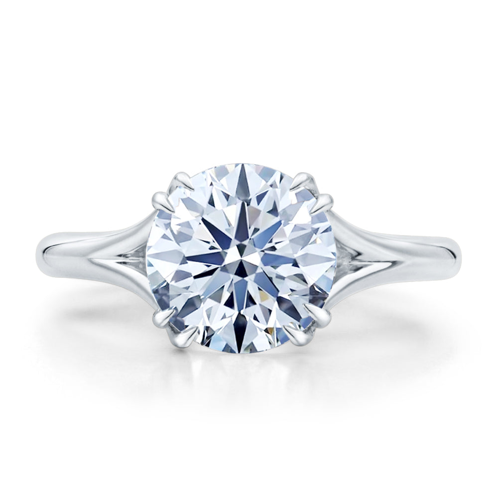 Custom Round Brilliant Cut Solitaire