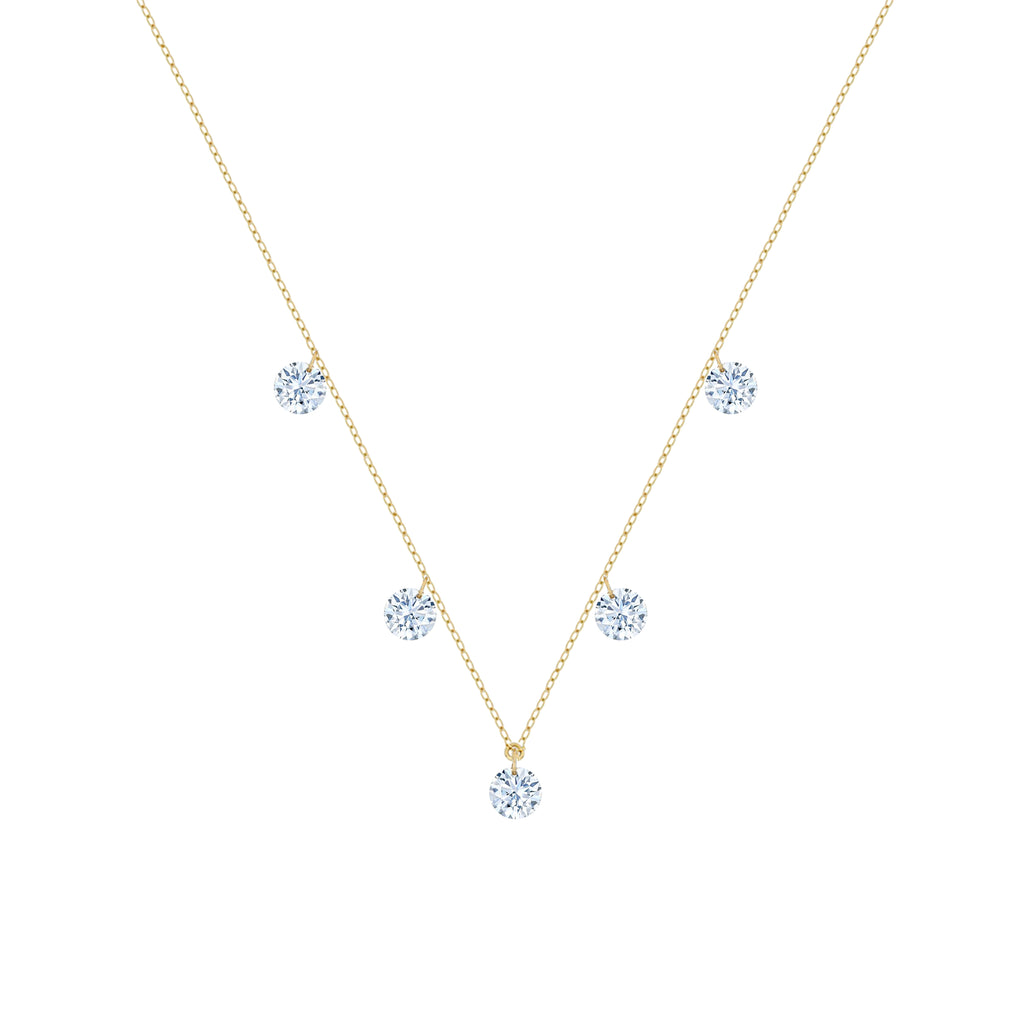 Miss Diamond Ring pendant diamonds drop necklace