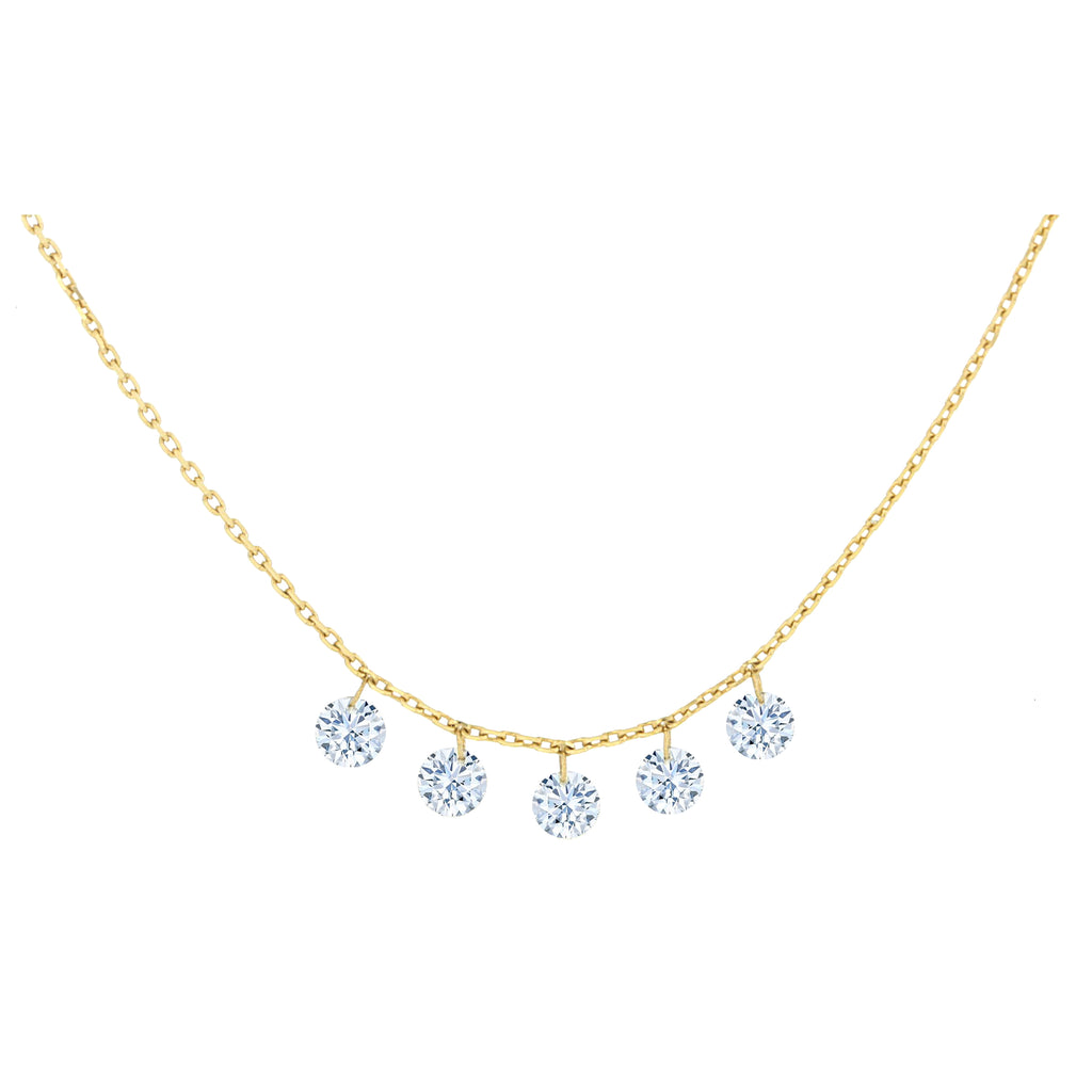 Miss Diamond Ring drop diamonds pendant necklace
