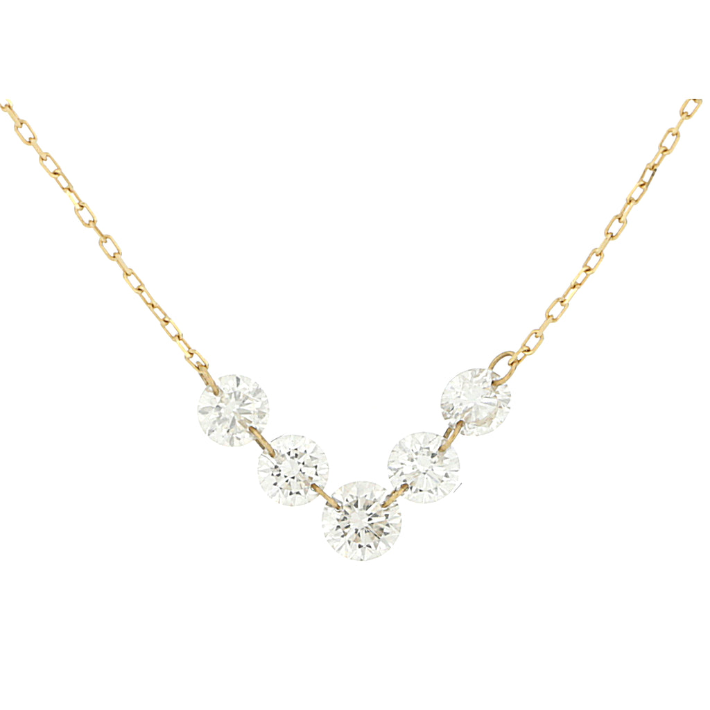 Miss Diamond Ring solitaire necklace with graduated diamonds