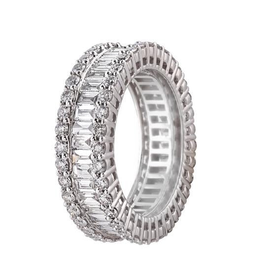 Baguette / Round Eternity Band