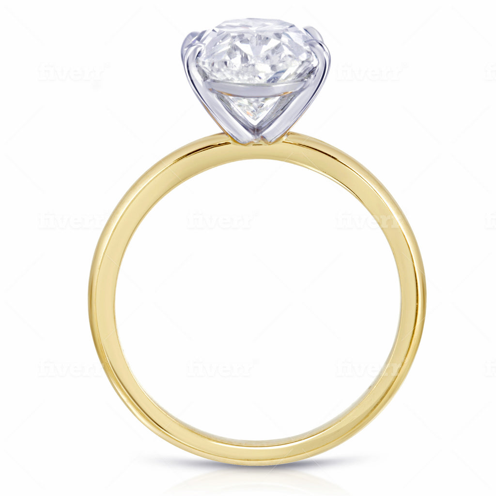Bespoke Yellow Gold Oval Solitaire Ring