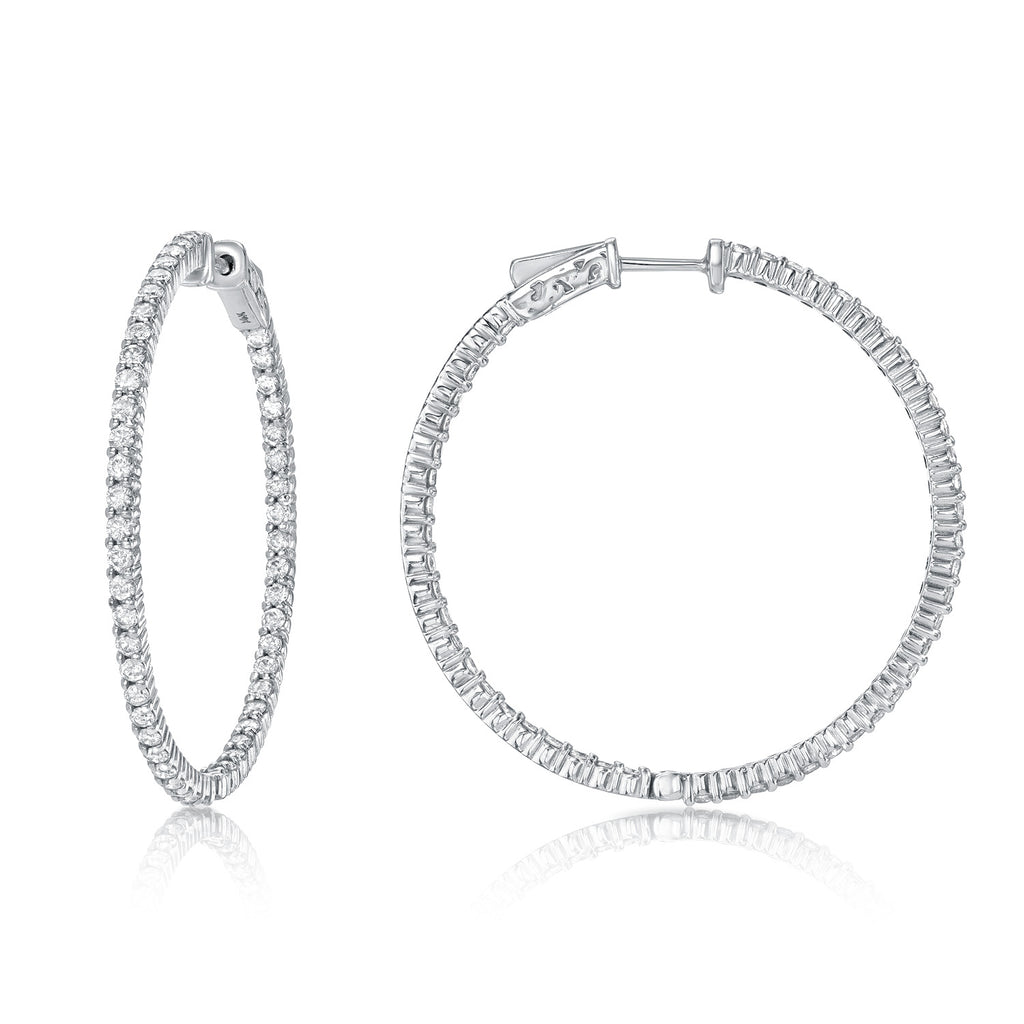 Whisper Thin Diamond Hoop Earrings