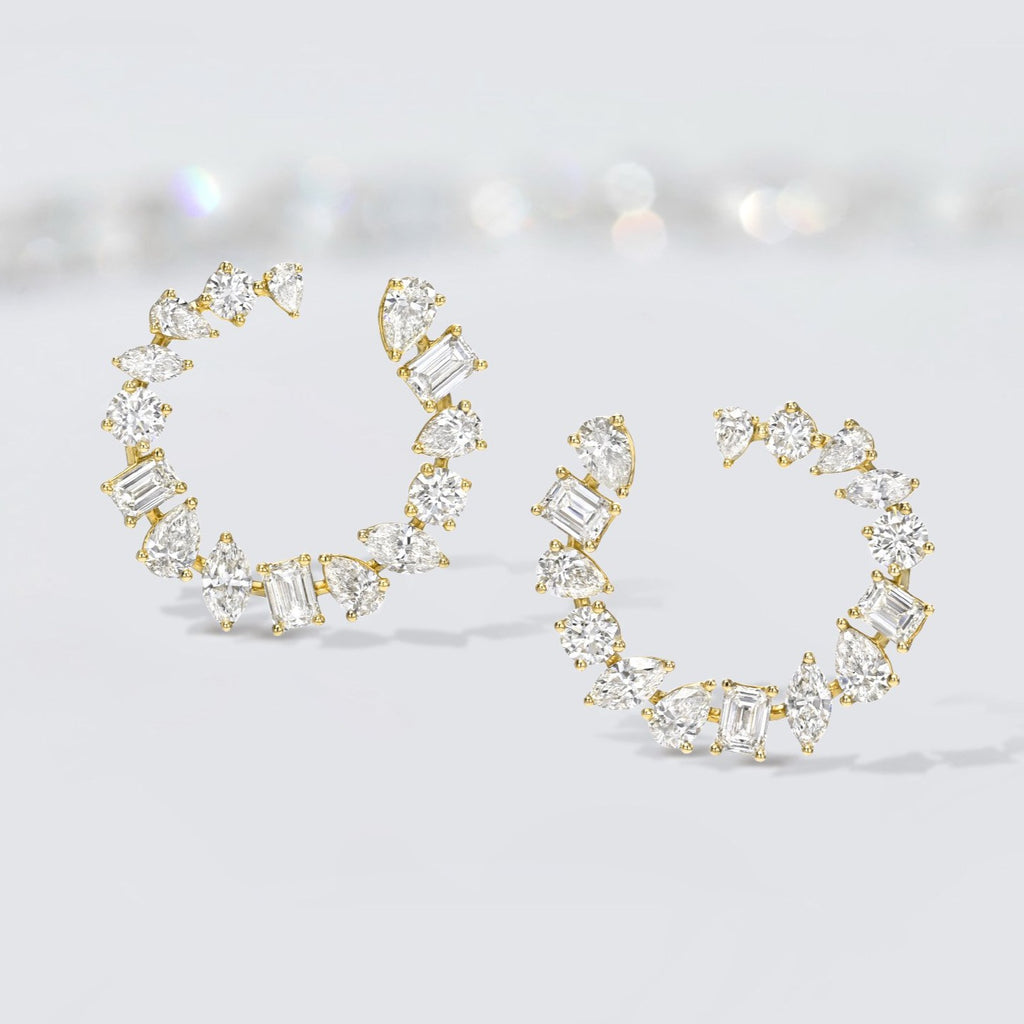 'Always' Diamond Hoops
