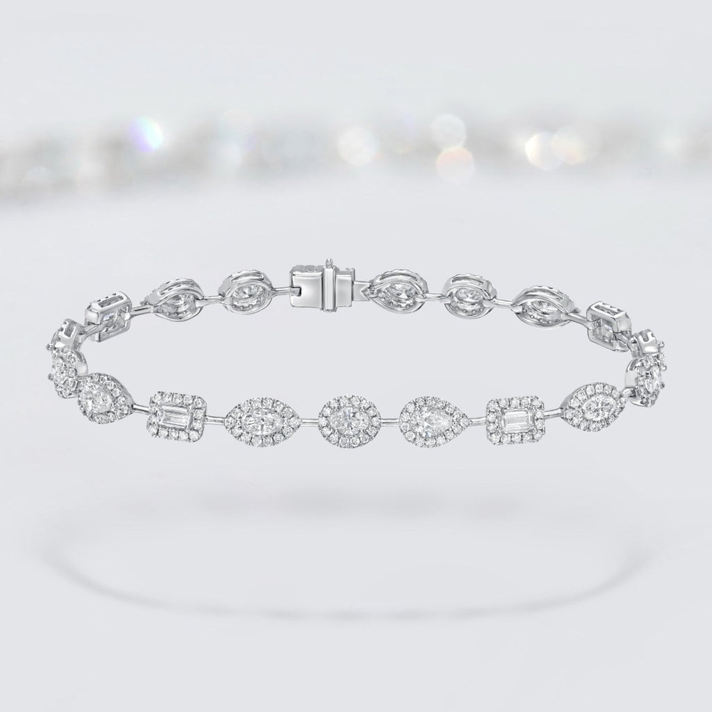 'Angel' Diamond Tennis Bracelet