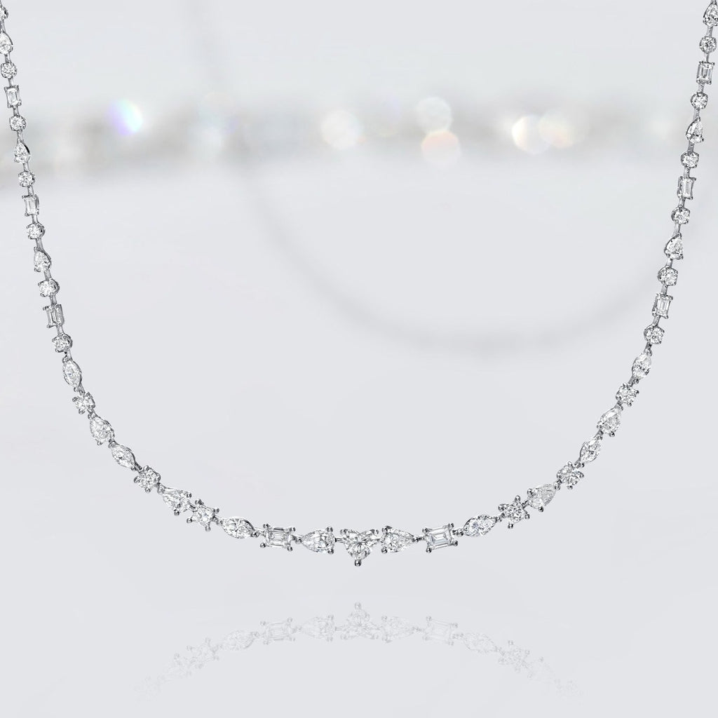'Sweet Forever' Diamond Mixed Shapes Necklace