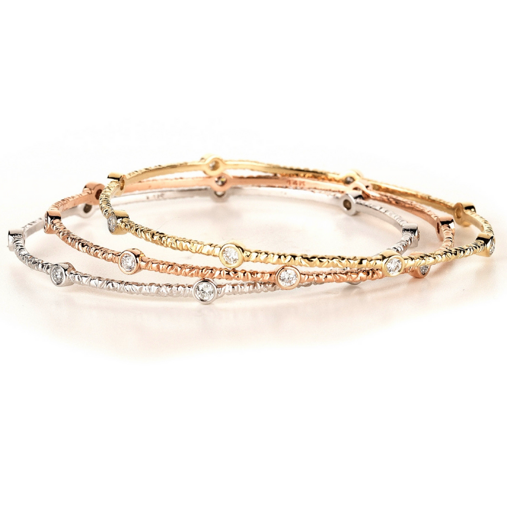 Miss Diamond Ring Love Trio bangle bracelet set