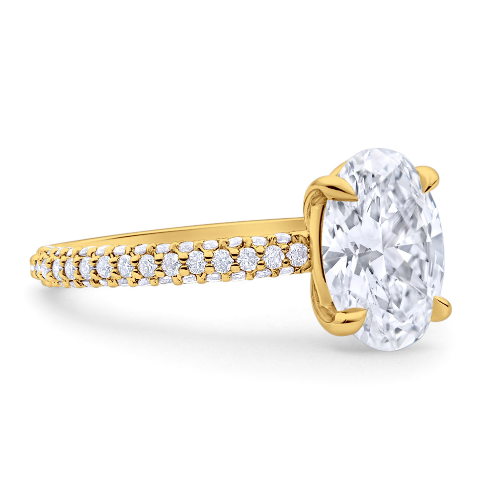 Oval Cut Pave Diamond Engagement Ring
