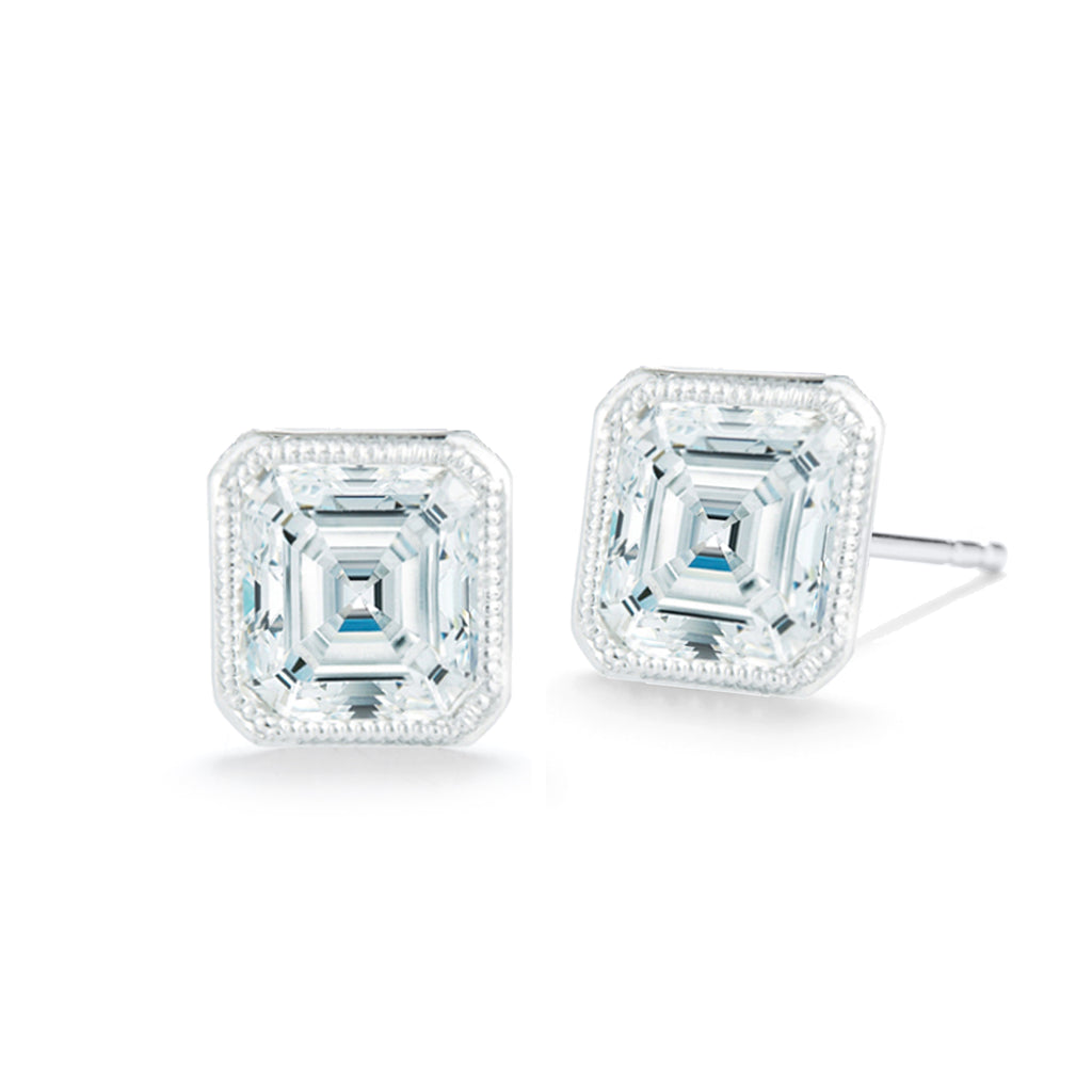 Miss Diamond Ring emerald stud earrings