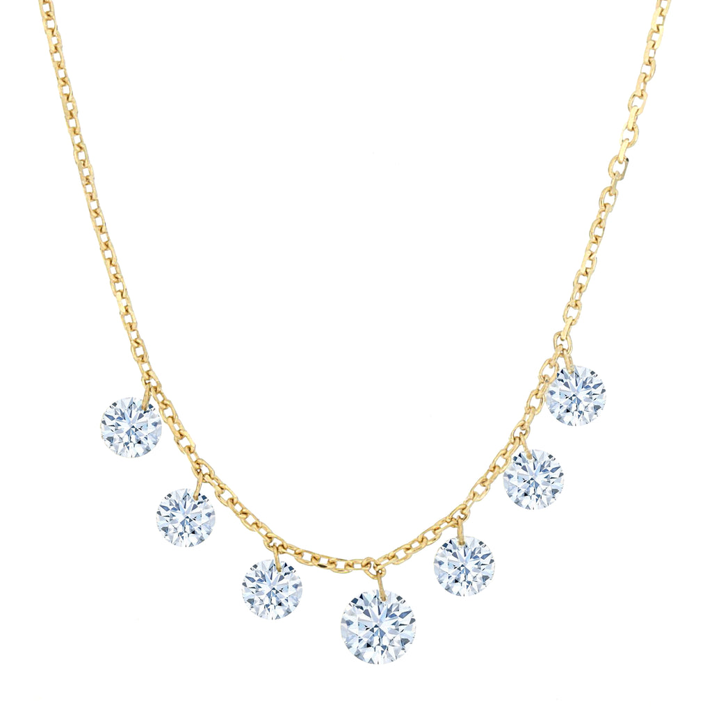 Miss Diamond Ring diamonds are a girl's best friend necklace