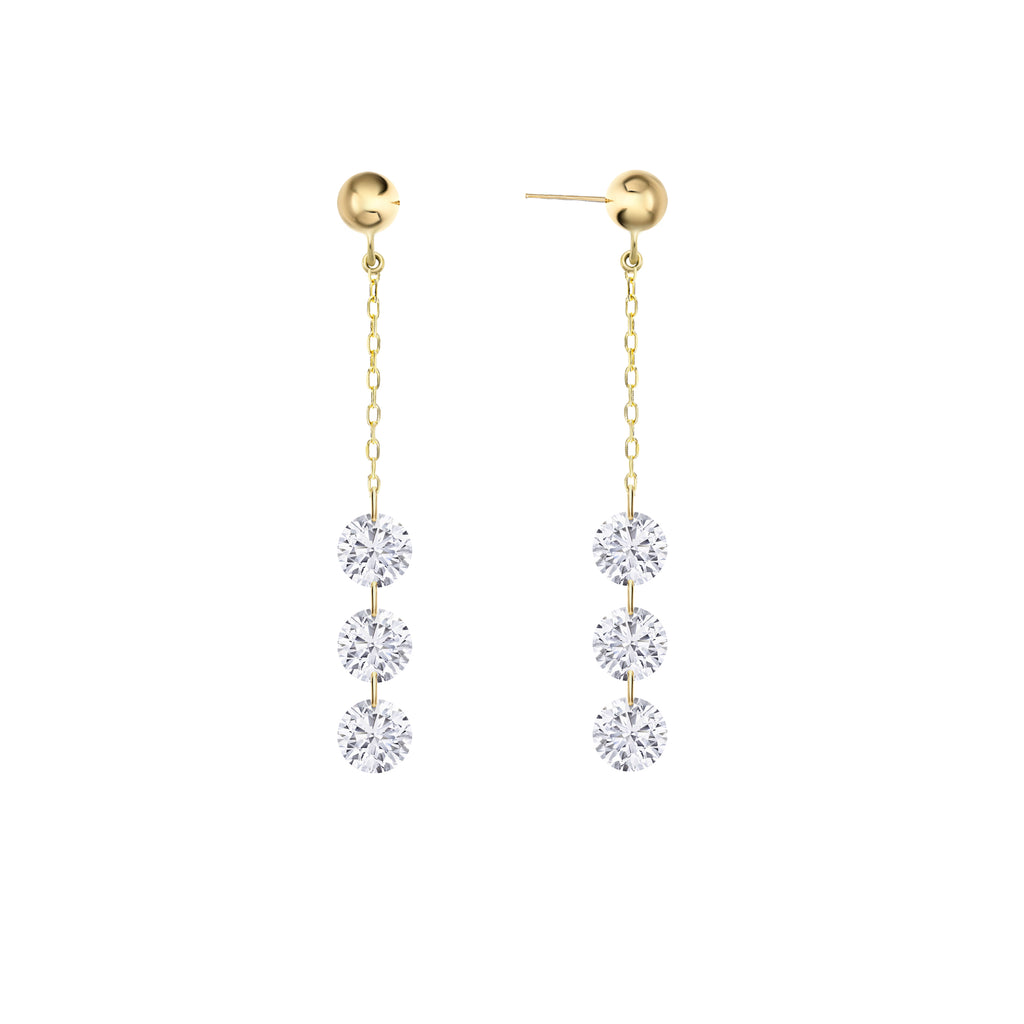 Miss Diamond Ring Diamond drop dangle earrings