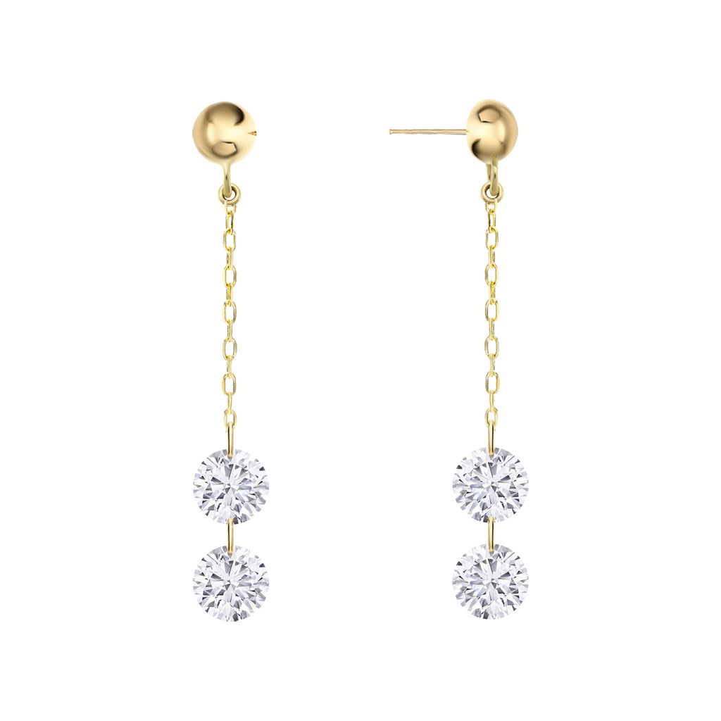 Miss Diamond Ring drop diamonds chandelier earrings