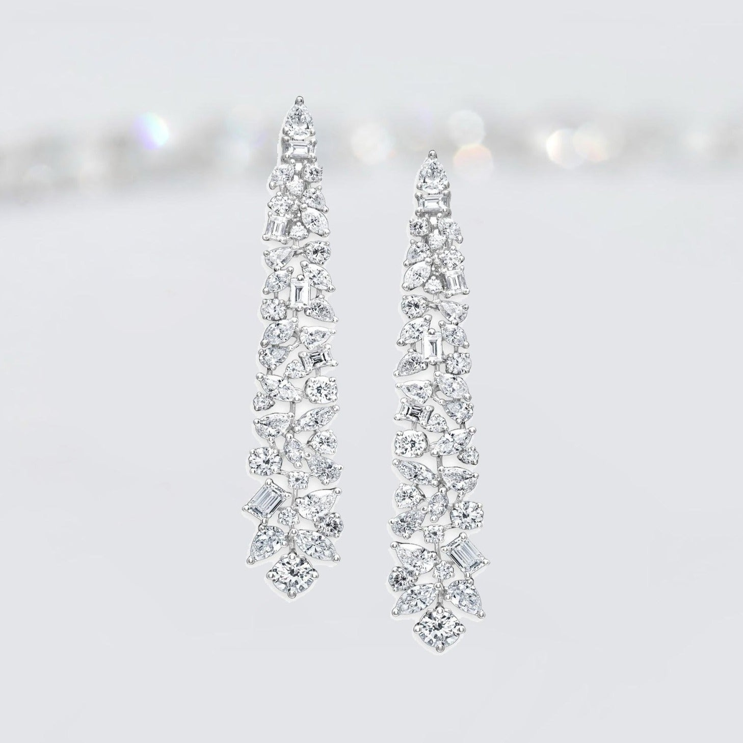 'Captivating' Mixed Cut Chandelier Earrings