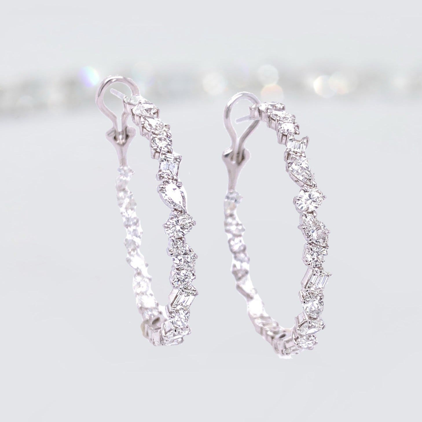 'Limitless' Diamond Hoops