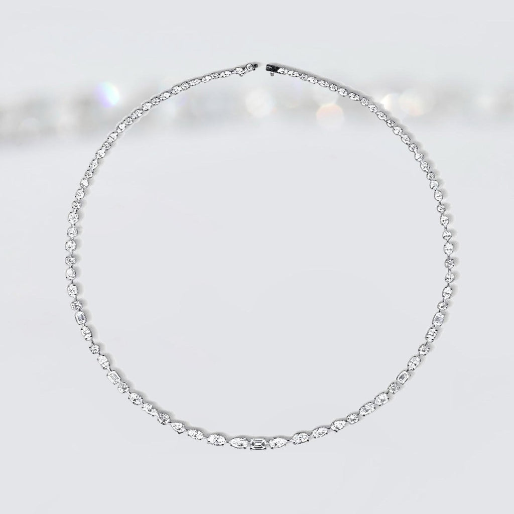 'Forever' Diamond Mixed Shapes Necklace