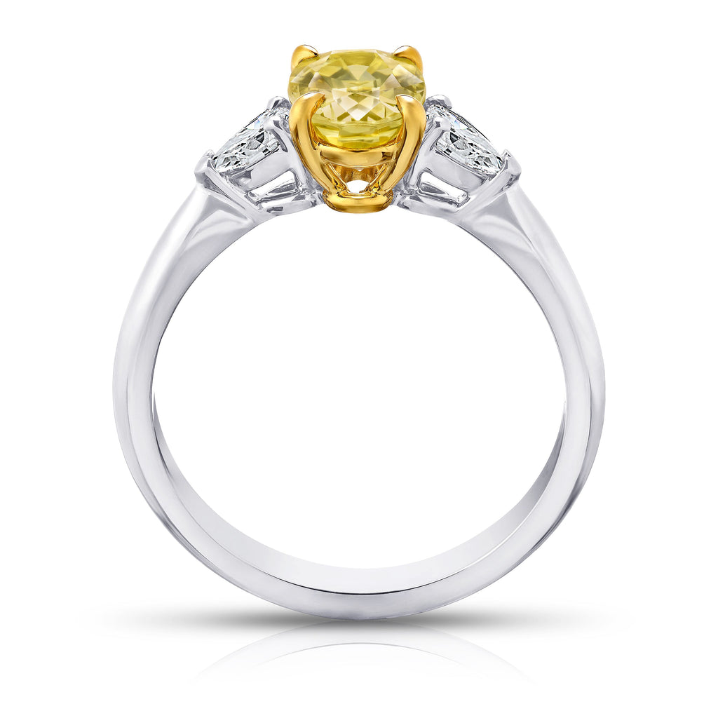 Miss Diamond Ring yellow sapphire white diamond three stone rings