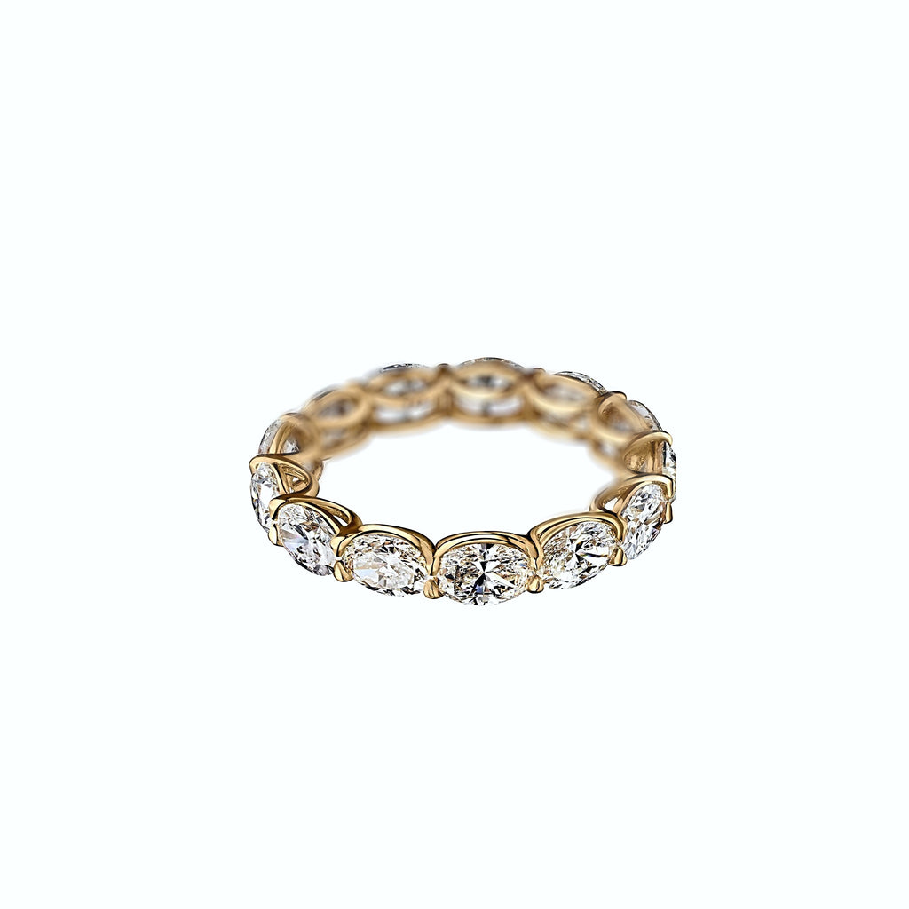 4 ct Oval Diamond Eternity Ring