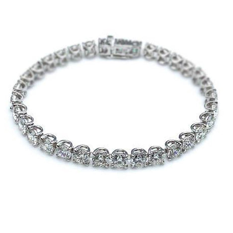 7 ct Diamond Tennis Bracelet, White Gold