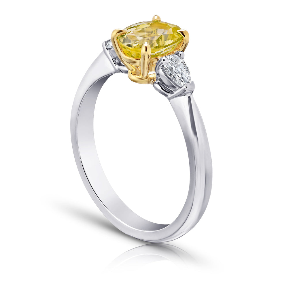 Miss Diamond Ring yellow sapphire with white diamonds