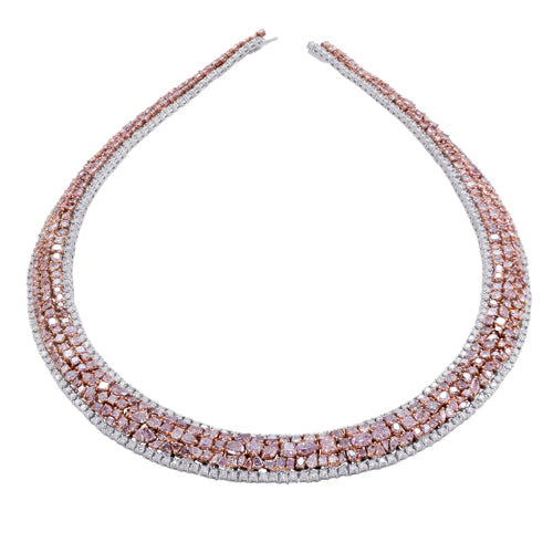 Pink Diamond Collar Necklace