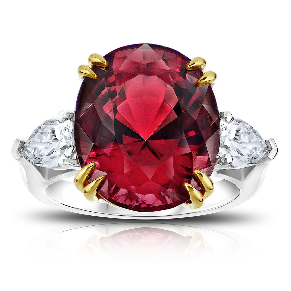 Miss Diamond Ring red gemstone jewelry