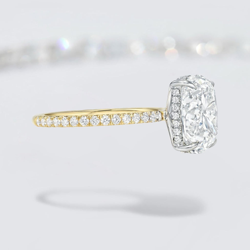 Cushion Brilliant Two Tone Bespoke Diamond Solitaire