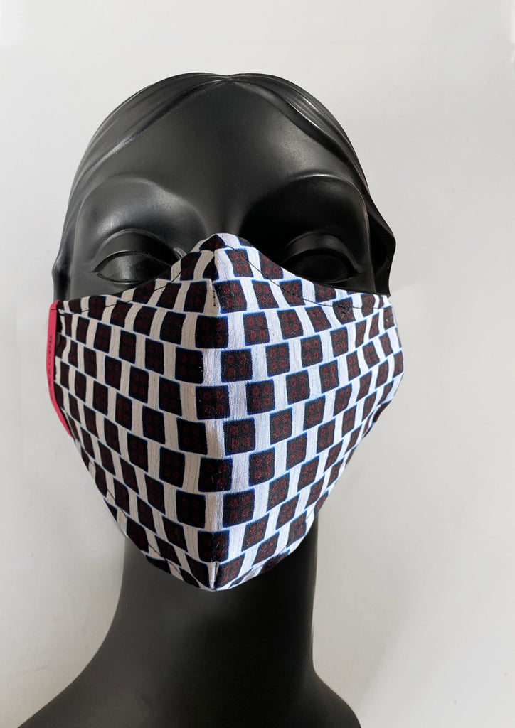 BlackCoffee BlackTile FaceMask